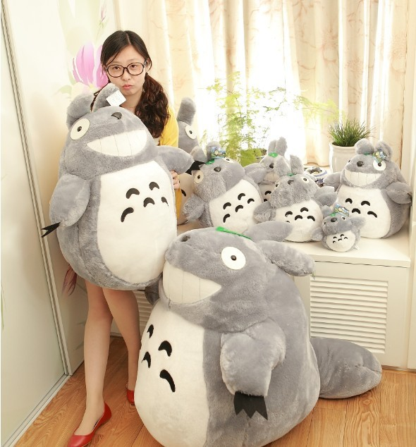 Classic Anime huge stuffed animal plush toys for children Totoro 80 cm +25  cm plush baby toys to play Sale totoro plush teddy 2d607376c1a5