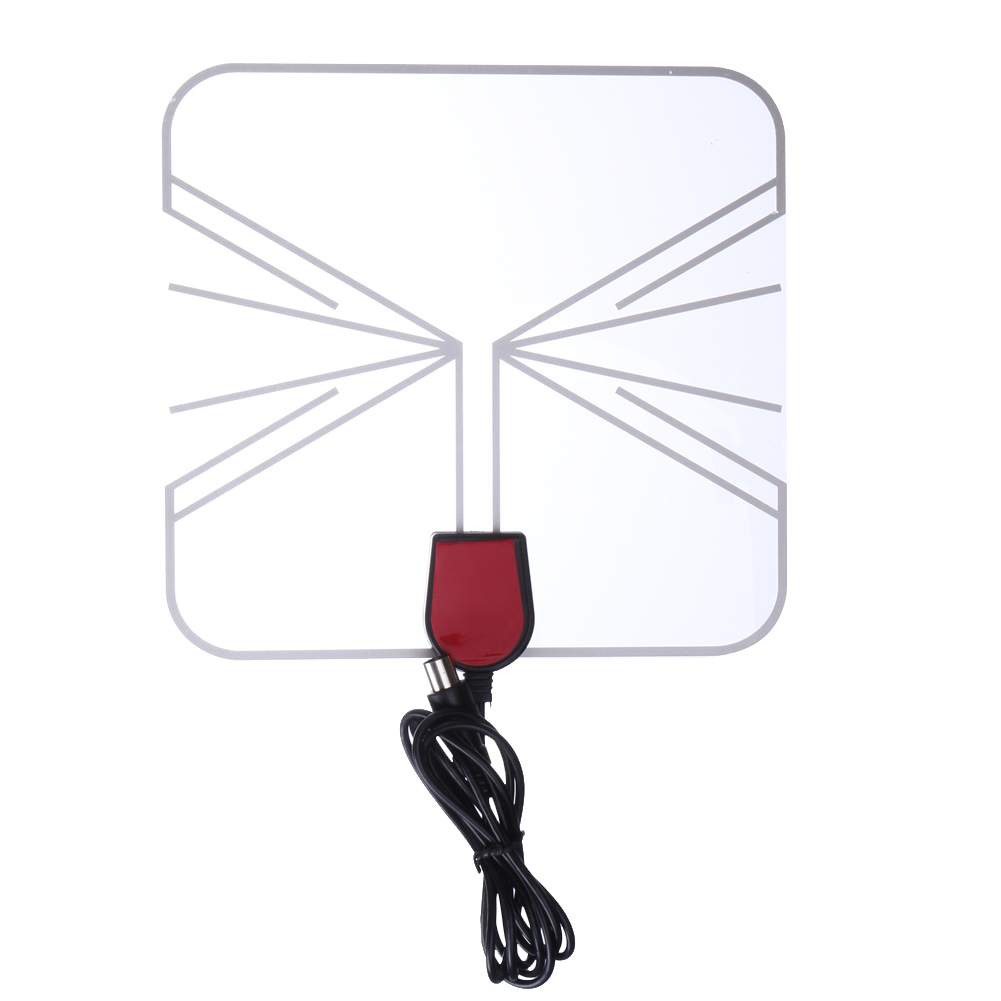 Indoor HD Digital TV Antenna Box Flat Design Space Saver