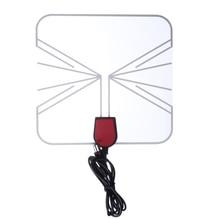 Intérieur HD Numérique TV Antenne Boîte Plat Design Space Saver 1mm Mince à Gain Élevé 75 OHM Numérique Analogique Signal Récepteur antenne