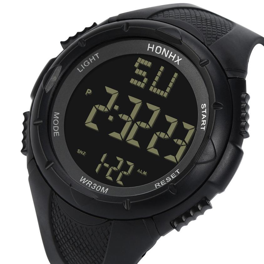 Watches Quartz Sport-Date Military Male Luxury Saat LED Erkek Digital Waterproof Men's