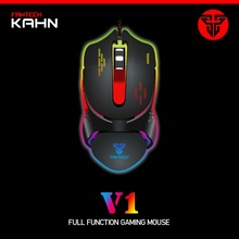 Newest FANTECH 2400DPI 6 Button Optical USB Wired Gaming Mouse Bright Colors LED Game Mice for PC Laptop Computer Computador