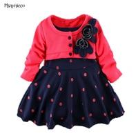 Kids Toddler Girl Clothing Autumn Style Princess Polka Dot Long Sleeve Dresses For Girls Children Clothes