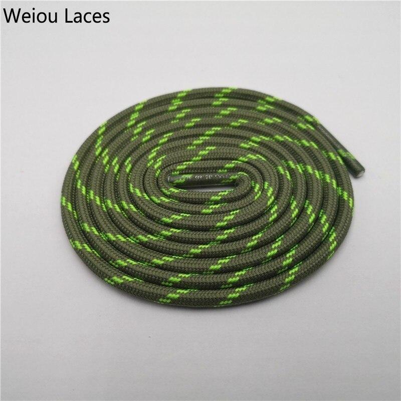 Weiou Уличная обувь с круглым канатом для пеших прогулок, шнурки, износостойкие кроссовки, шнурки для ботинок, шнурки для мужчин и женщин, спортивные шнурки - Цвет: 2508Grass Green Neo