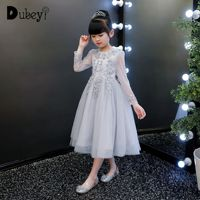 Girls Autumn Winter Dress Long Frock for Kids Birthday Wedding Party Long Sleeve Costumes for Teenager Girl Festival Costume