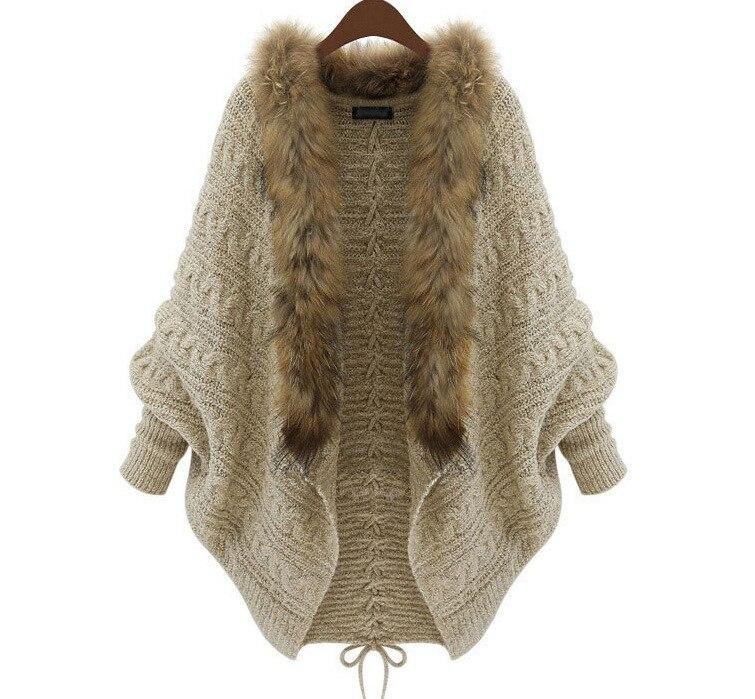2017 Autumn Winter Women Cardigans Sweater Shawls Big Wraps Bat Sleeve Knit  Cardigan Fur Shawl Collar - Popular Cardigan Shawl Collar-Buy Cheap Cardigan Shawl Collar Lots