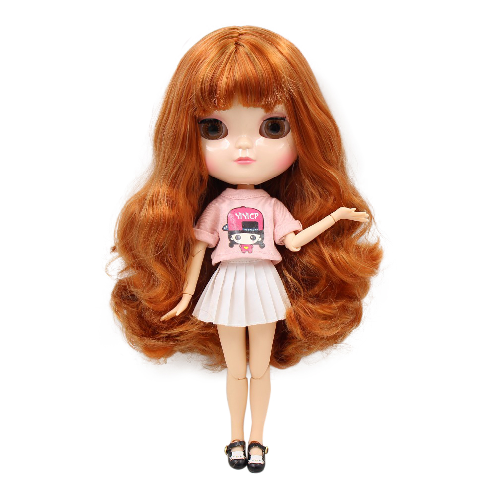 Dolls Adroit Icy Doll Golden Mix Red Hair Azone Body Joint Body Natural Skin Bl764a/1207 30cm