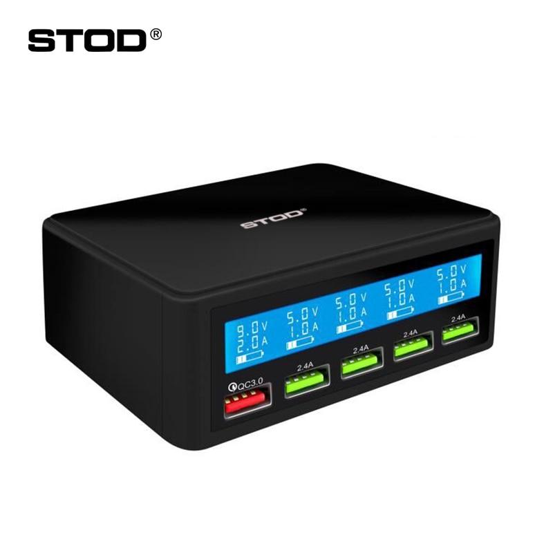 STOD 5 chargeur port usb 50 W led Affichage charge rapide 3.0 De Charge Pour iPhone iPad Samsung Huawei Nexus Mi Oneplus adaptateur secteur