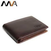 Fashion Short Men Wallet Leather Brand Men's Coin Purse Vintage Genuine Leather Credit Card Purse Wallets for Men Money Bag 8866