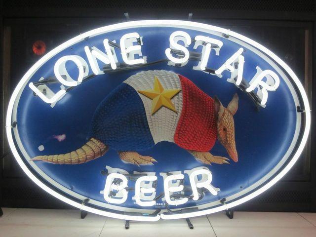 Custom Lone Star Beer Bar Glass Neon Light Sign  Beer Bar
