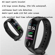 купить Smart Wristband Fitness Smart Watch Blood Pressure Heart Rate Monitor IP68 Waterproof Sports Bracelet M3 онлайн