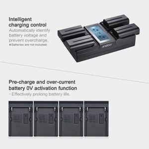 Image 5 - Andoer NP F970 4 Channel Digital Camera Battery Charger for Sony NP F550 F750 F950 NP FM50 FM500H QM71 with DC Car Charger