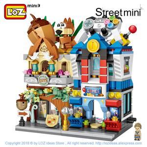 Image 3 - LOZ Mini Tuğla Şehir Manzaralı Sahne Mini Sokak Modeli Yapı blok oyuncaklar Oyun Odası Şeker Dükkanı Oyuncak Mağazası Mimari Çocuk DIY