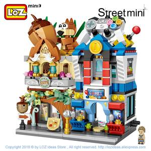 Image 3 - LOZ Mini cegły widok na miasto scena Mini Model uliczny zabawki budowlane pokój gier sklep z cukierkami sklep z zabawkami architektura dzieci DIY