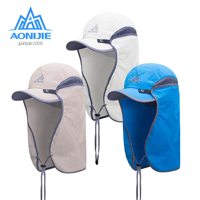 adad4efab7411 AONIJIE Nylon UV Protection Running Hat For Men Hiking Hunting Fishing  Outdoor Sports Hats Travel Outdoor Running Sun Cap