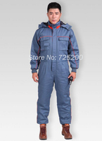 Winter Thicken Warn Cotton Jumpsuit For Cold Storage Sea Transportation And Winter Fishing