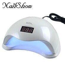 Nailshow 48W UV Led Nail Dryer Lamp with LCD Timer Bottom Makeup SUN5 Nail Dryer Polish