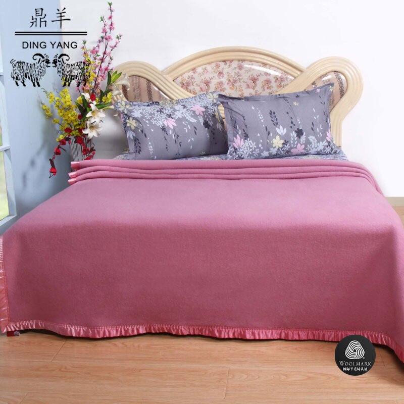 Lã australiana cobertor lance Todas As Estações Adequado para Adultos e Crianças 150 cm x 200 cm rosa 1.65 kg - 3