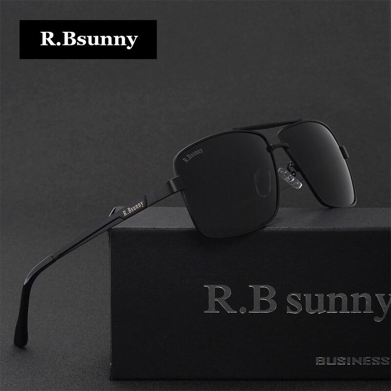 Hombres marcas gafas de sol polarizadas moda de negocios clásico alta  calidad bloque conducción resplandor UV400 gafas R. bsunny R1612 en Gafas  de sol de ... 7dac29d582d7