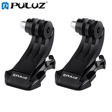 2 PCS PULUZ Black Vertical Surface J-Hook Buckle Mount Set for GoPro NEW HERO Session Action Cameras Accessories For Gopro