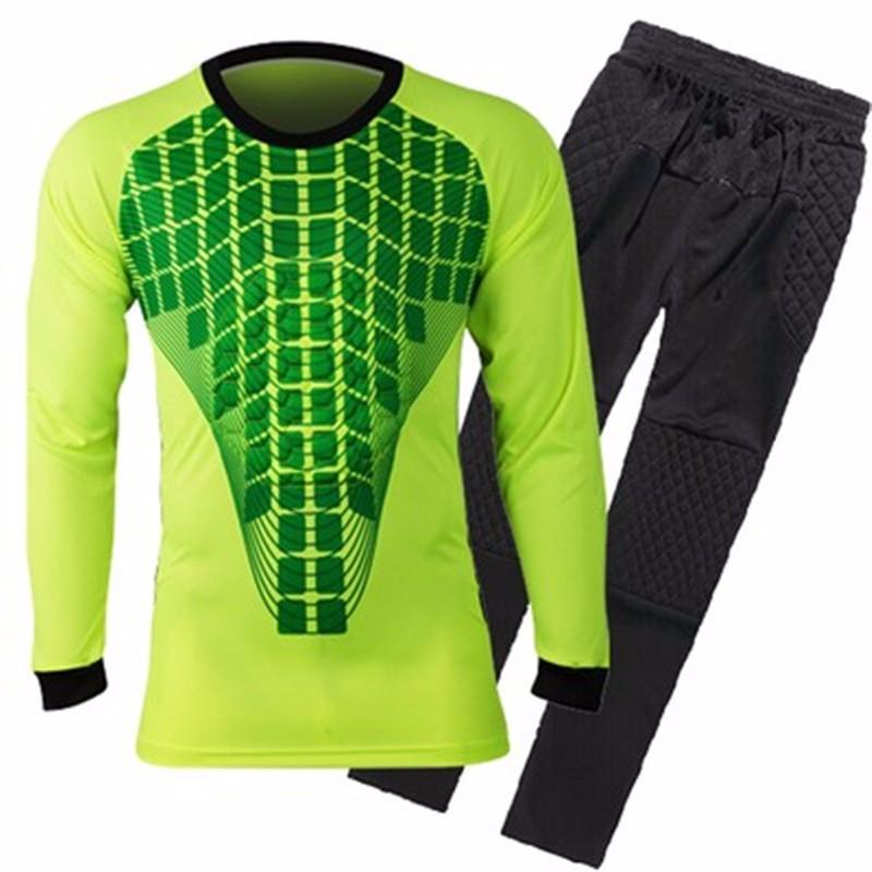 Mens Football Goalkeeper Jersey maillot de foot 2016 2017 Goalie Sponge Protector Suit Camisetas De Futbol Goal Keeper Uniforms 1