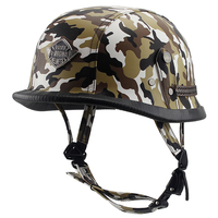 VOSS Motorcycle Helmet Motorcross Vintage Camouflage Helmet For Scooter Leather Crash Helmet Windproof Open Face Harley