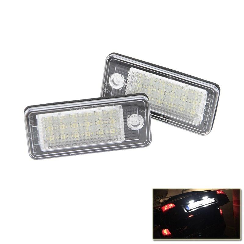 Qook Ксенон Белый Ошибка Бесплатная LED Номер Номерного Знака-Лампа Для Audi А3 А4 А5 А6 С6 А8 Q7 Автомобилей Стайлинг Автомобиля Источник Света