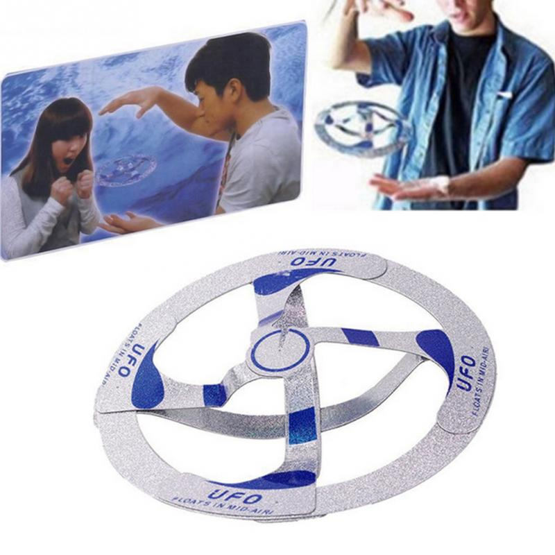 Magic Trick Cool Amazing Mystery UFO Floating Flying Disk Saucer Toys