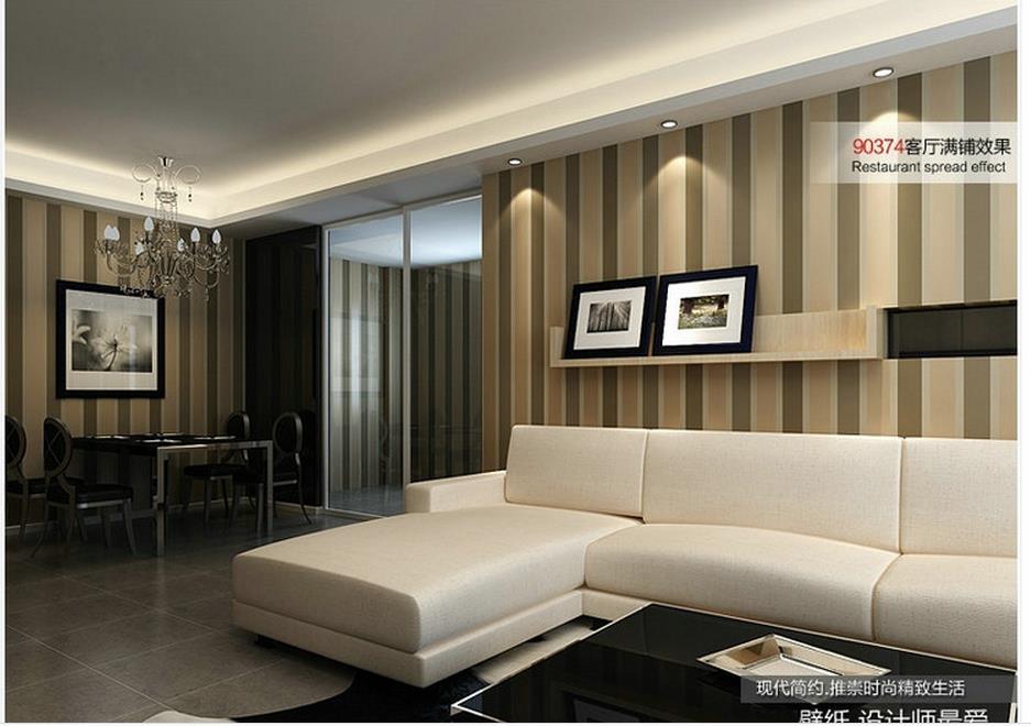 non woven wallpaper vertical striped brown wallpaper home