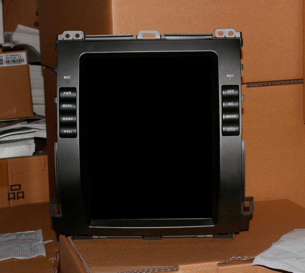 Тесла Стиль android dvd плеер автомобиля для Toyota Prado 120 land cruiser 2002 2003 2004 2005 2006 2007 2008 2009 lexu s GX470 GX 470