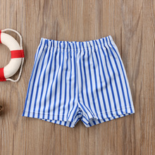 Комплект одежды для новорожденных детей для маленьких мальчиков, детский купальный костюм в полоску, с высокой талией шорты для купания пляжная одежда костюм для пляжа