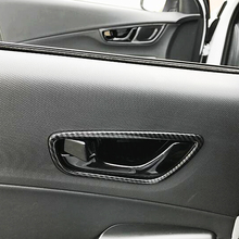 Matte and Carbon fibre For Hyundai Kona Encino 2018 2019 ABS Car inner door Bowl protector frame Cover Trim sticker Car Styling for hyundai kona encino kauai suv 2018 2019 abs chrome car front fog light protector fog lamp frame cover trim auto accessories
