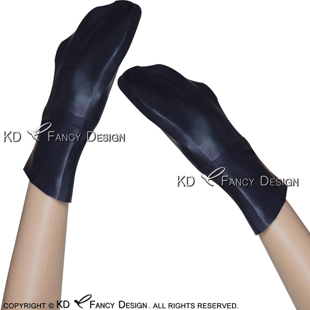 Black Sexy Latex Gloves With Zipper Rubber Mitts Rubber Gloves ST-0020