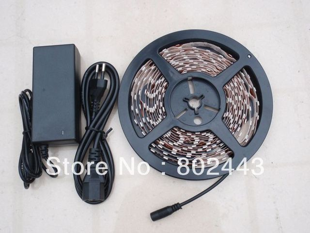 single color 5050 LED Strip Light ( 300 LED/Roll, 5 M/Roll ) + Remote Control 24key + Adapter 12V 2A / Free by China Post