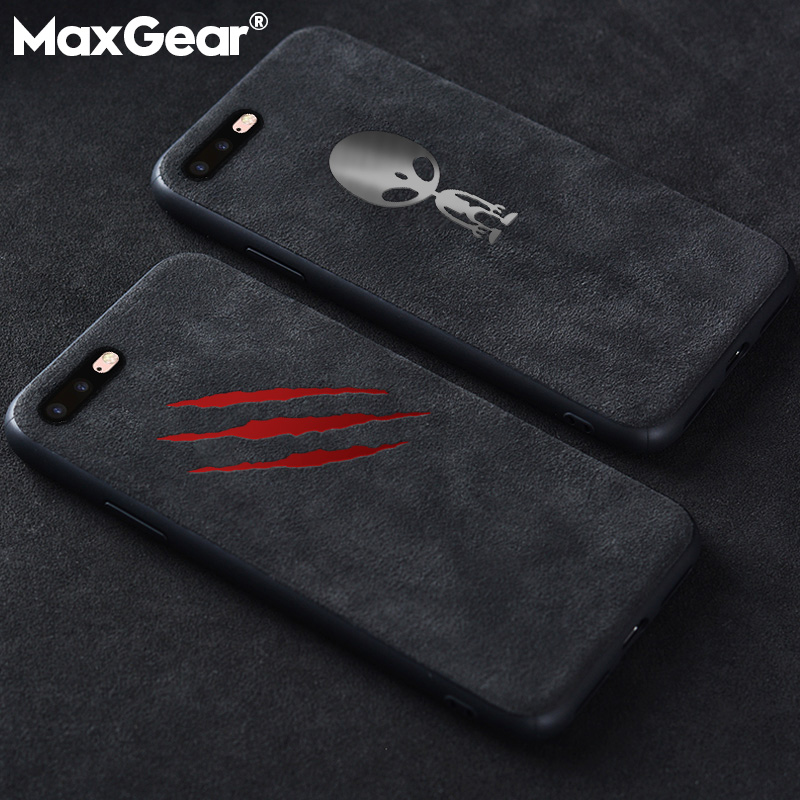 167e072a2d US $1.86 20% OFF|Luxury Car Logo BMW GTR AMG Suede Fur Case For iPhone XS  MAX XR X 6 6S 7 8 Plus Matte Leather Soft Silicone Cover Telefon Kilifi-in  ...