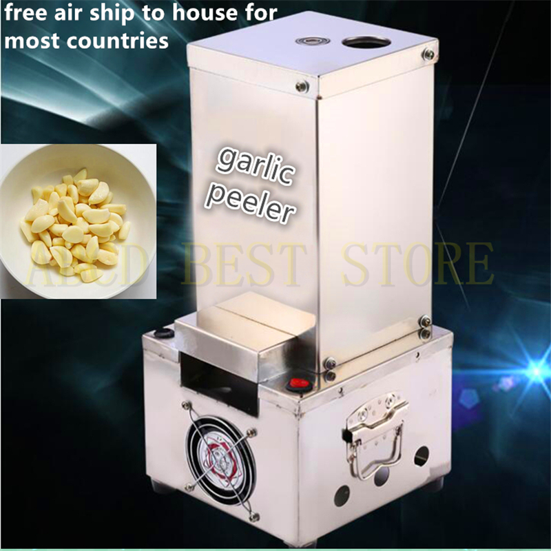 18 free air ship automatic electric 220v 150w garlic peeler for commercial use garlic peeling machine for hotel restaurant 22kg h capacity electric garlic peeler automatic garlic peeling machines garlic processing machine