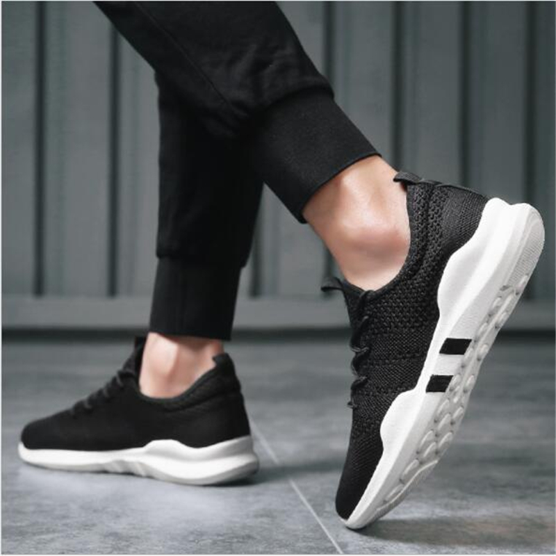 BJYL2019 spring new mens flying woven casual mens shoes breathable sports trend running shoesBJYL2019 spring new mens flying woven casual mens shoes breathable sports trend running shoes