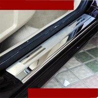 Carro styling 4 pçs/set EAZYZKING aço inoxidável do peitoril da porta scuff pedal placa de tampa do caso para Ford Focus 2 Focus 3 carro acessórios