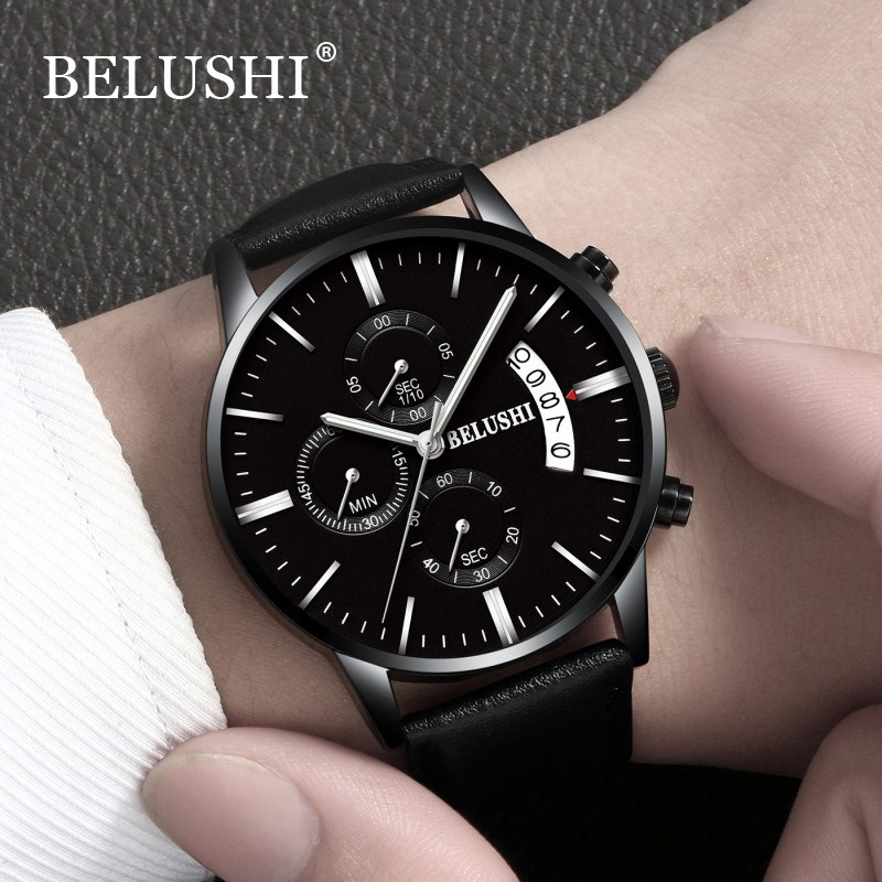 BELUSHI New Chronograph Mænd Quartz Watch Rustfrit Stål Mesh Band - Mænds ure - Foto 3