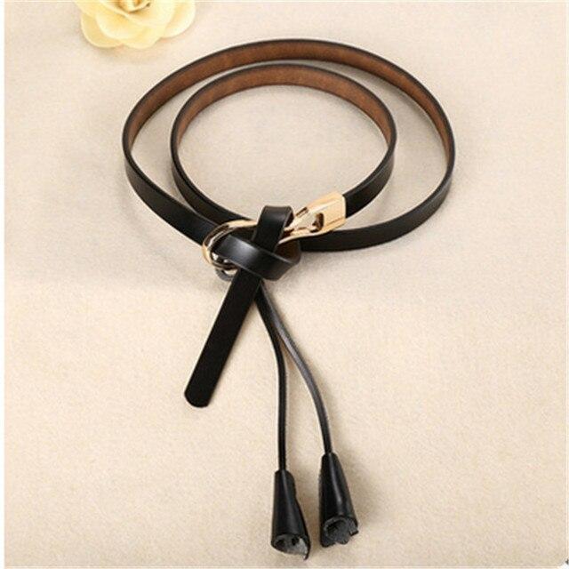 New Arrival Women's Fashion Girls Knot Belts Brand Genuine Leather Famale Straps for Women Dress Sweat Luxury Belt 3