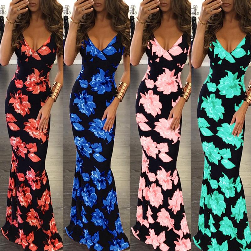 5XL Plus Size Dress Strap Rojo Slim Backless Beach Dress Vestido de - Ropa de mujer
