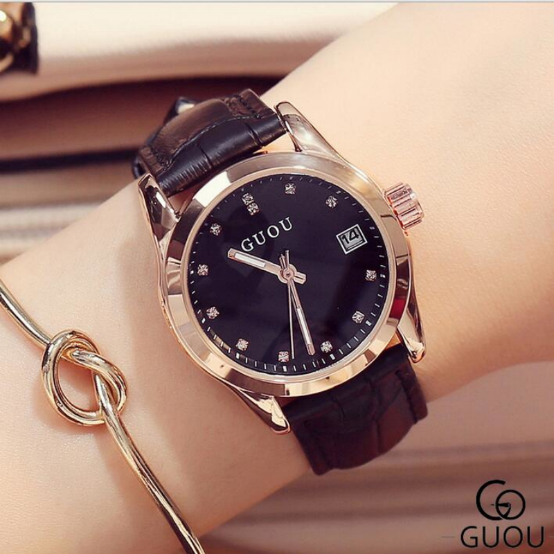 GUOU Watch Women Watches Top Brand Luxury Rhinestone Ladies Watch Fashion Women's Watches Clock reloj mujer relogio feminino fashion guou women s watches ladies watch luxury bracelet watches for women rose gold rhinestone clocks women reloj mujer saat