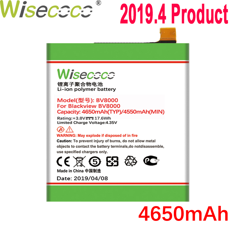 WISECOCO 4650mAh Battery For Blackview BV8000/ BV8000 Pro Mobile Phone Latest Production High Quality Battery+Tracking NumberWISECOCO 4650mAh Battery For Blackview BV8000/ BV8000 Pro Mobile Phone Latest Production High Quality Battery+Tracking Number