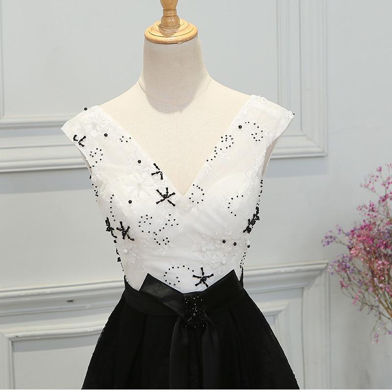 SOCCI Robe de Soiree Svart Lace Long Evening Dresses 2017 V Neck - Särskilda tillfällen klänningar - Foto 4
