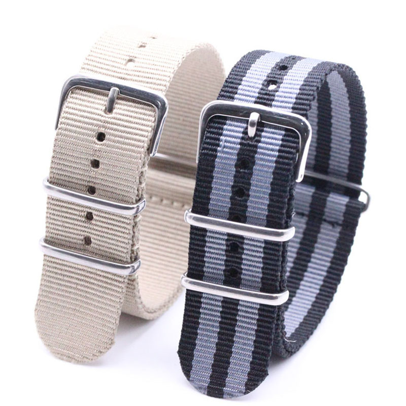Original VIVIFY 18mm,20mm,22mm 18mm 20mm 22mm 24mm  NATO Waterproof Nylon Strap Watch Band