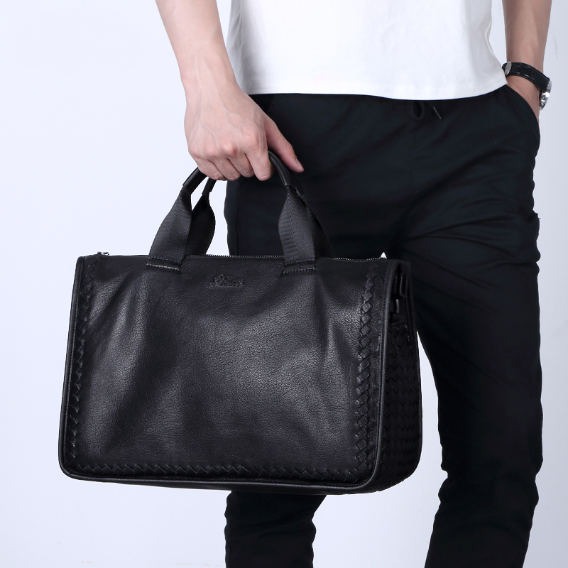 High Quality 100% Sheepskin Genuine Leather Travel Bag Men Business Casual Handbags Men Briefcase Soft Leather Weekend BagHigh Quality 100% Sheepskin Genuine Leather Travel Bag Men Business Casual Handbags Men Briefcase Soft Leather Weekend Bag