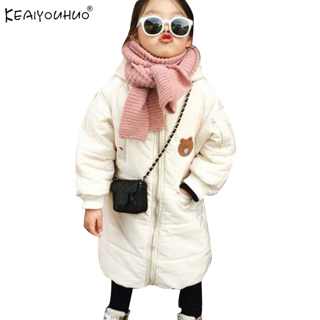 KEAIYOUHUO 2017 Winter Coats For Girls Jackets Hooded Warm Long ...