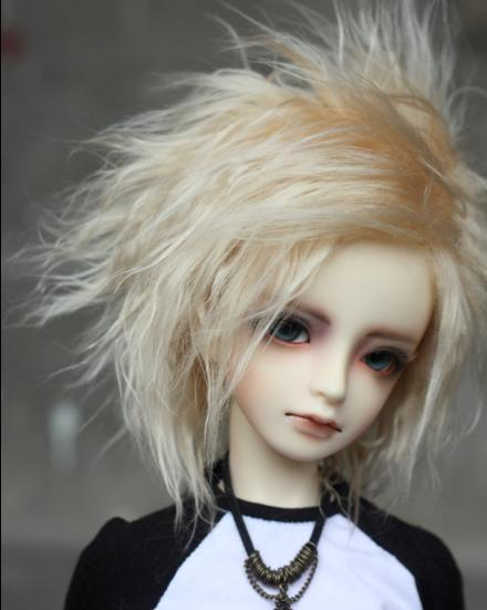 BJD Doll Fur Wig meat golden short hair wigs for 1/3 1/4 BJD DD SD MDD MSD doll fur wigs doll accessories luo black fur wig for 1 3 1 4 1 6 bjd sd doll bjd wigs short wig for diy dollfie doll accessories