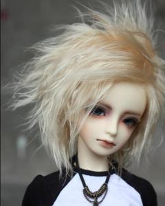 BJD Doll Fur Wig meat golden short hair wigs for 1/3 1/4 BJD DD SD MDD MSD doll fur wigs doll accessories(China)