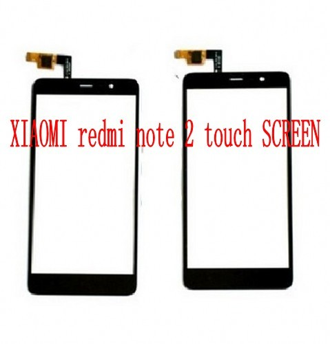 free shipping for original  Xiaomi Redmi Note 2 Touch Screen Front Glass Panel Display Digitizer Assembly Replacement Parts