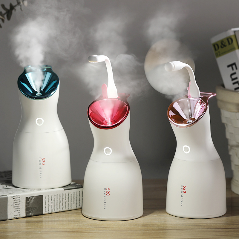 DEKAXI USB Air Purifier Ultrasonic Cool Mist Humidifier Aroma Essential Oil Diffuser Waterless Auto Shut-off For Skin Care